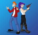 Fry and Leela