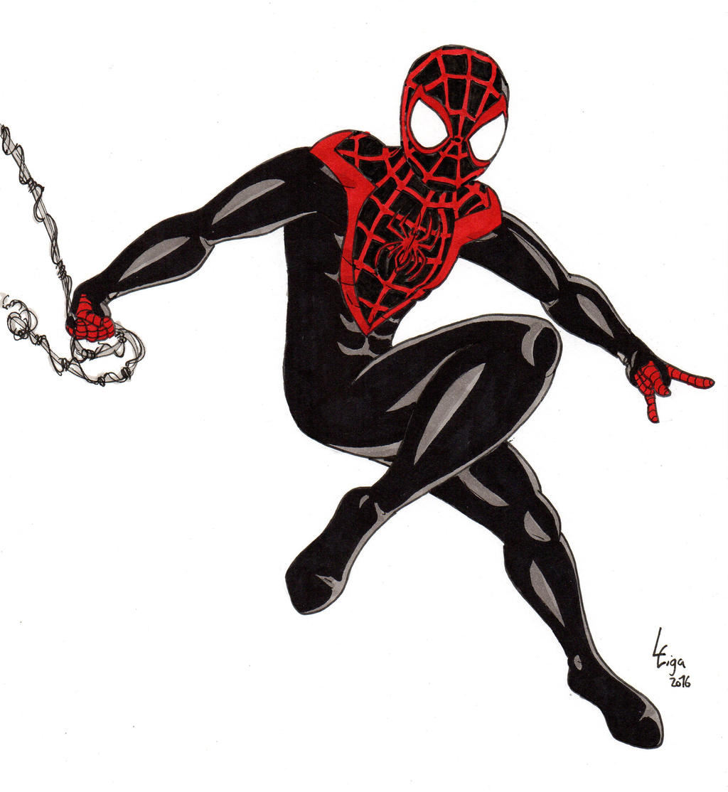 spiderman coloring pages miles morales - photo#10