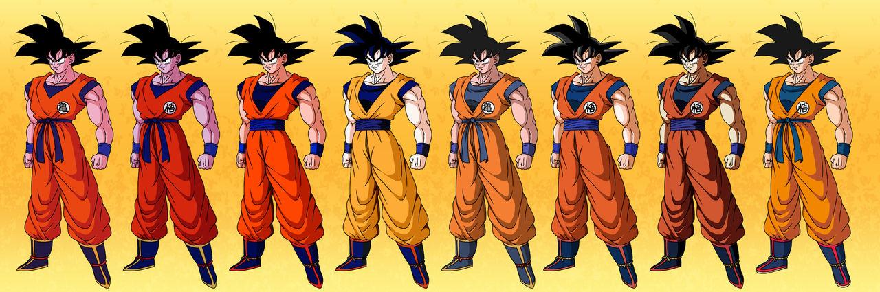 Goku colors comparisons #1