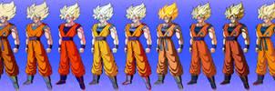 Goku colors comparisons #2