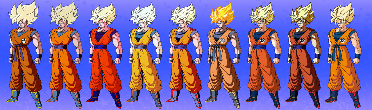 Goku colors comparisons #2