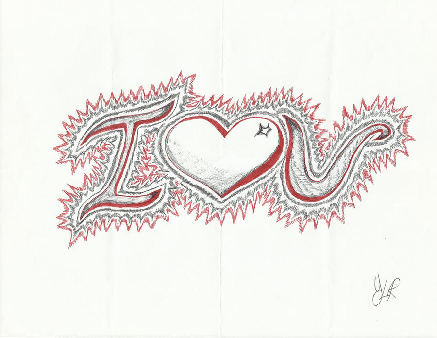 I Love you pen sketch by VerseaPetrova on DeviantArt