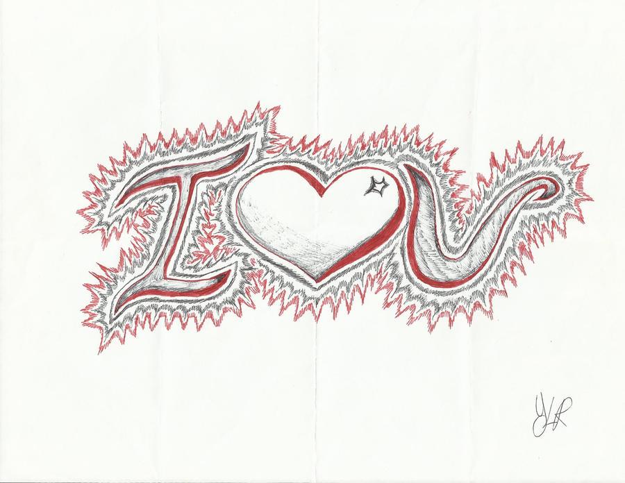 I Love you pen sketch by VerseaPetrova on DeviantArt