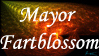 Mayor Fartblossom Stamp by one-tough-one