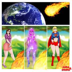 supergirl transformation - comic