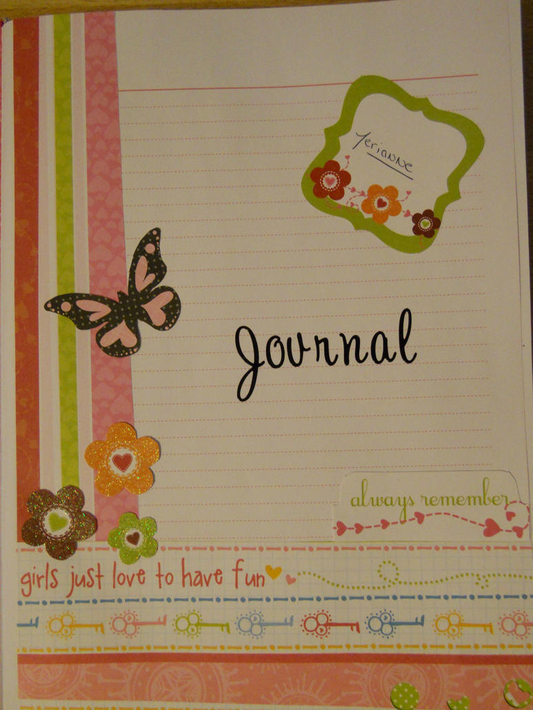 Journal Cover Page By Isiloaranel On Deviantart