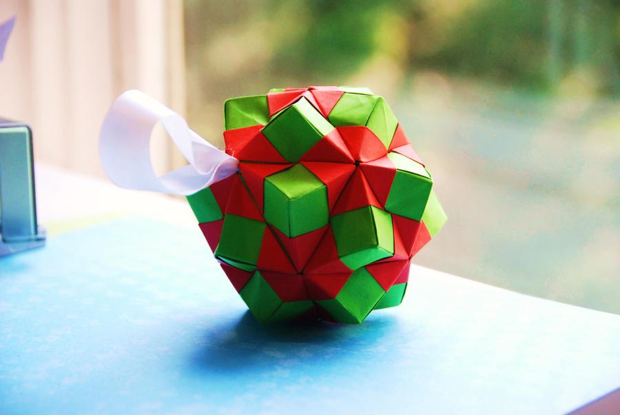 Origami christmas ornament by lisadeng on deviantart