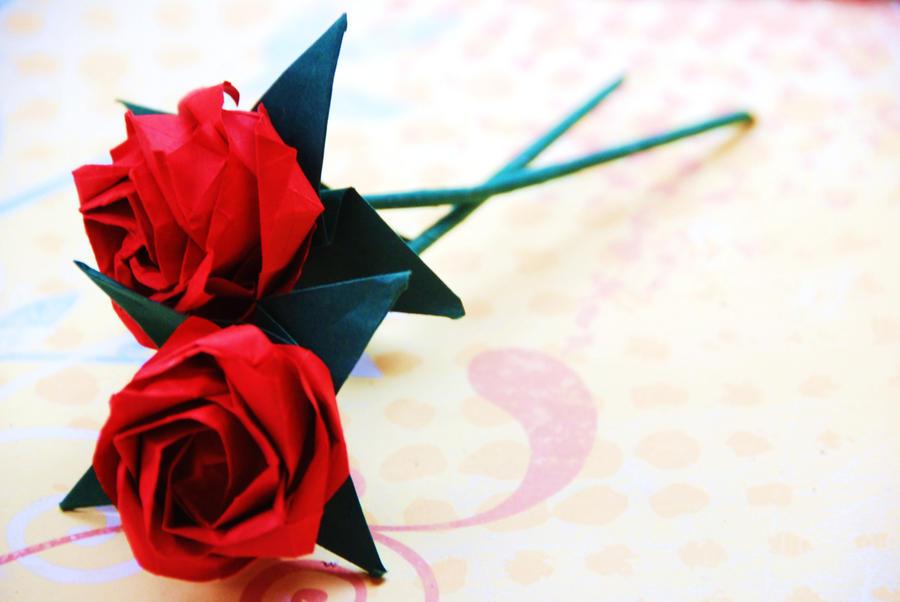 Origami roses by lisadeng d4pgrku