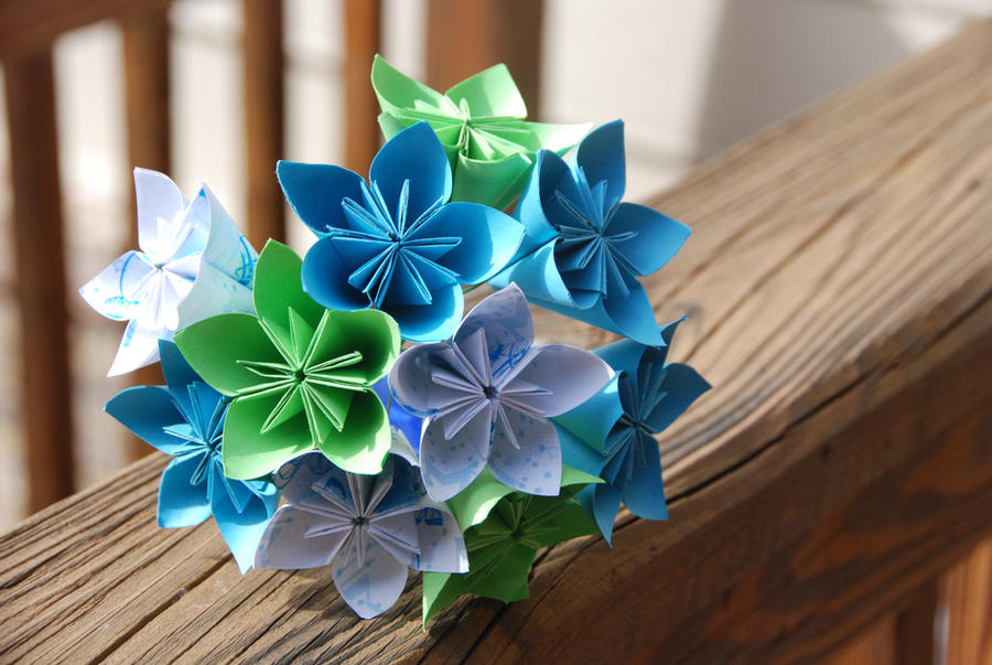 Origami Wedding Bouquet by lisadeng