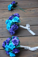 Origami Purple and Blue Wedding Bouquet by lisadeng