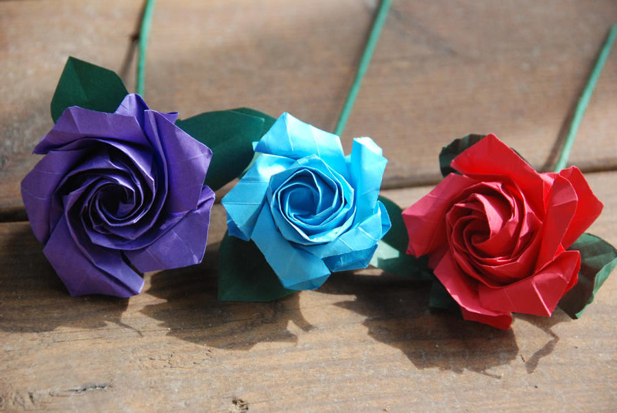 Custom colors origami rose by lisadeng on deviantart custom colors origami rose by lisadeng mightylinksfo