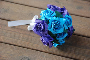 Origami Sato Rose Wedding bouquet by lisadeng
