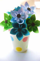 Origami Mini Flowers Bouquet by lisadeng