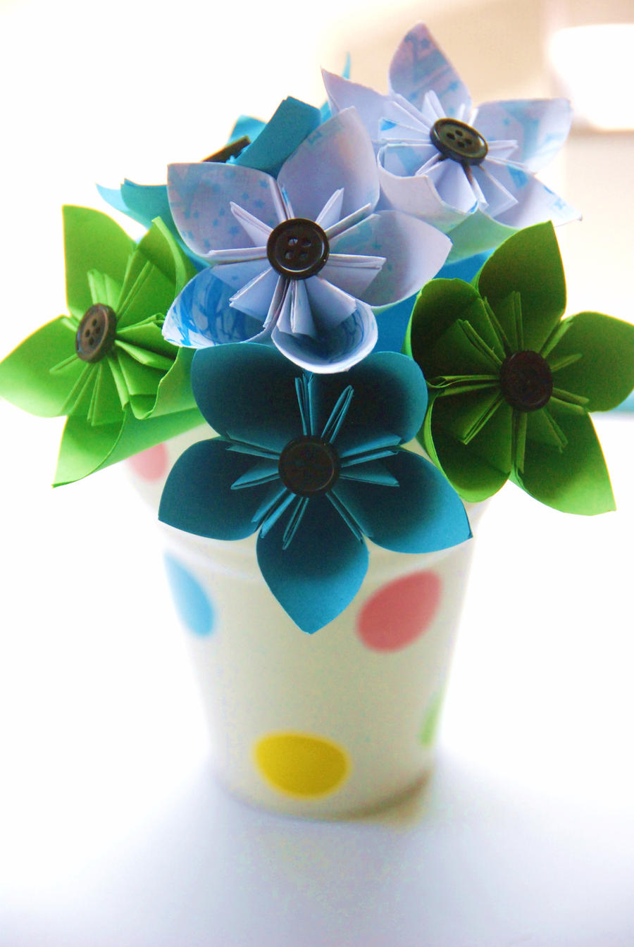 Origami Mini Flowers Bouquet By Lisadeng On Deviantart