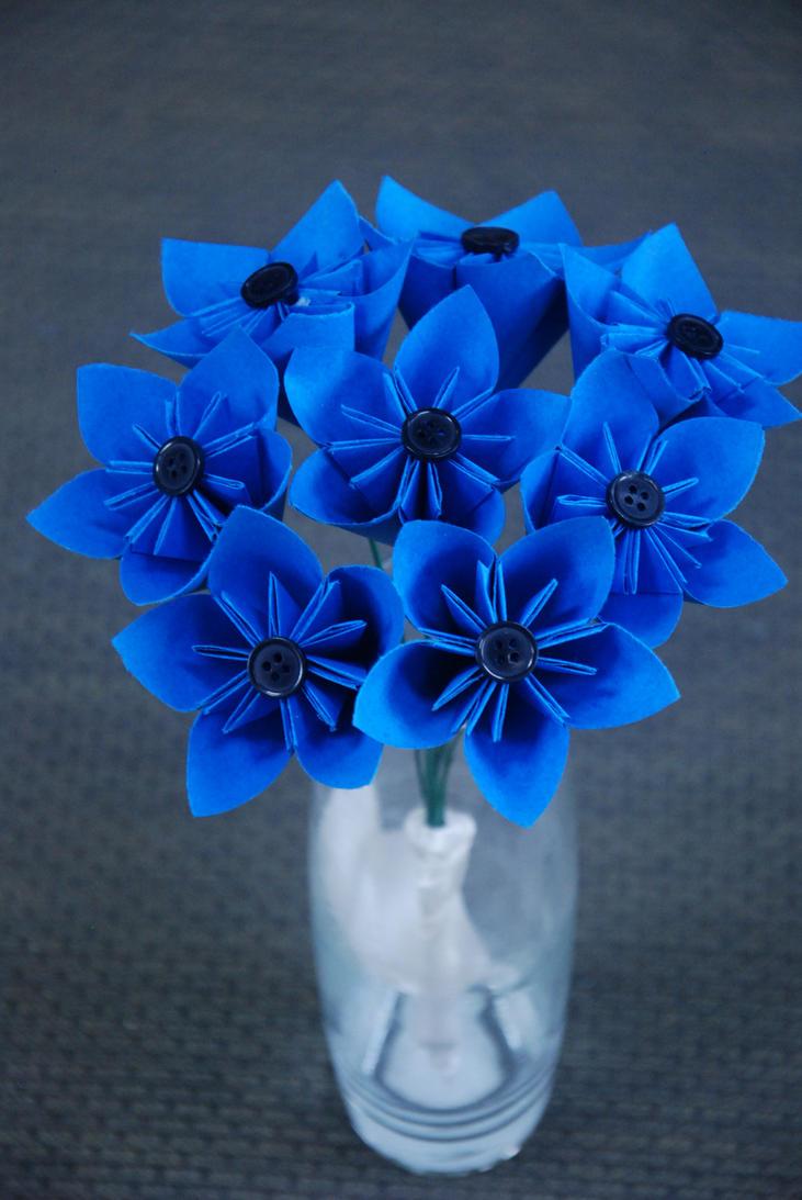 Blue Kusudama Bouquet by lisadeng on DeviantArt