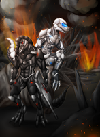 Commission - Terrible Tyrants by Cryophase
