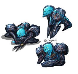 Dark Samus doodles 1 by Cryophase
