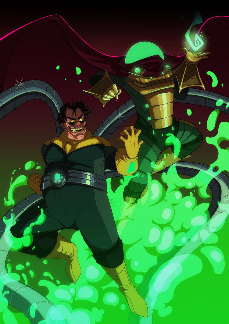 Ock and Mysterio by LameReaper