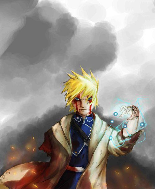 Burning Sky Alchemist Redraw (Naruto) by g1i7ch7heory