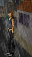 In the rain by DreamGazer-NightAnge