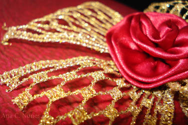 Gold Threads, Rose Heart by DreamGazer-NightAnge