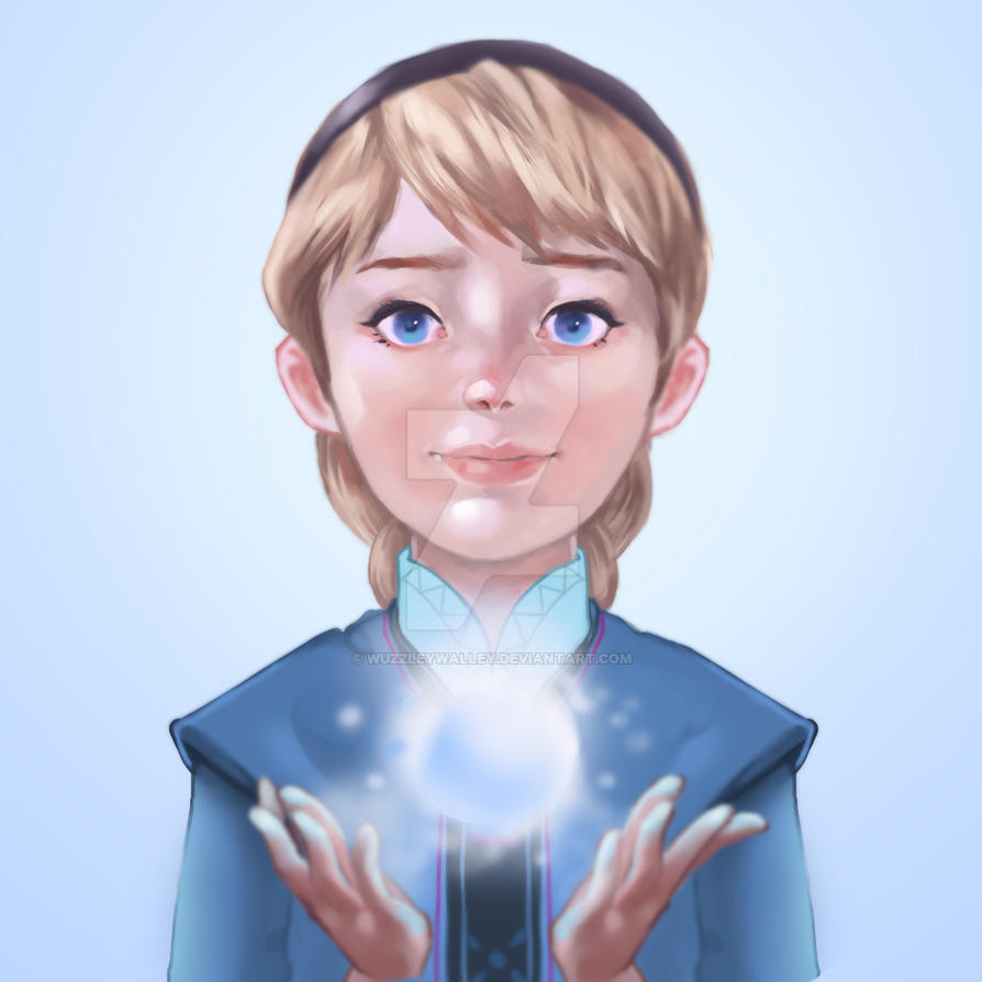Young Elsa by wuzzleywalley