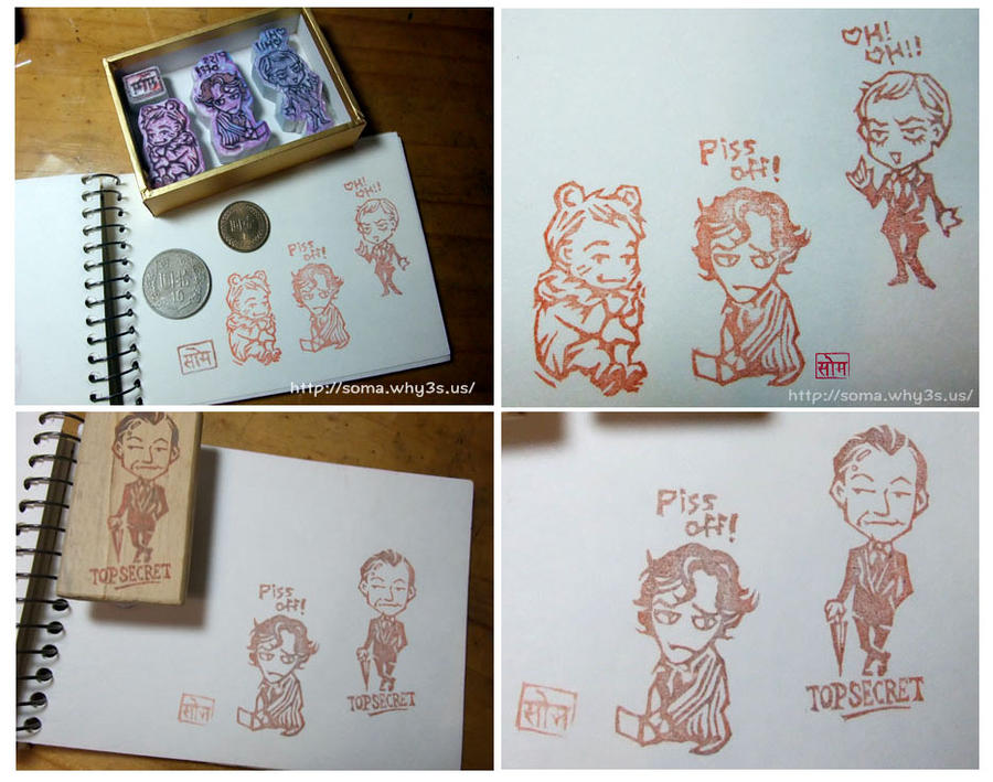 Sherlock Rubber Stamp by somachiou