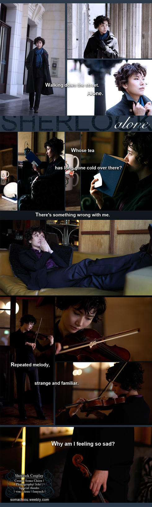 Sherlock cosplay_ Alone by somachiou