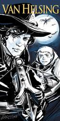 Sherlock crossover Van Helsing by somachiou