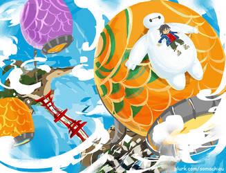 Big hero 6 by somachiou