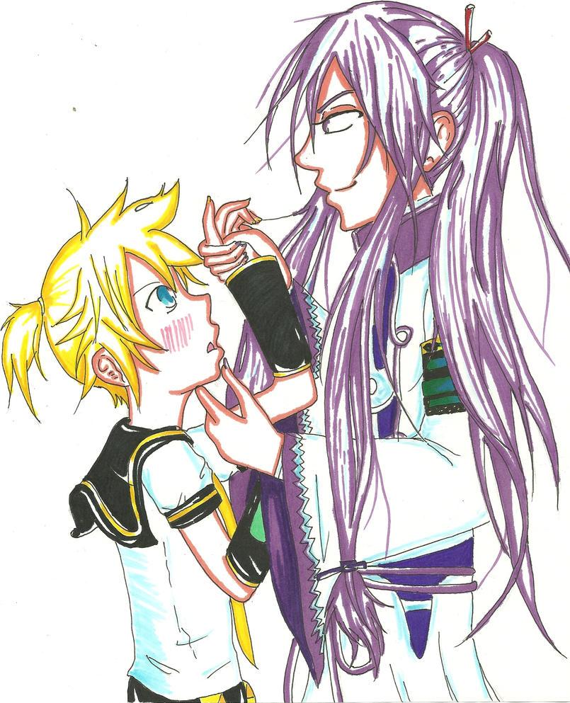 Gakupo and Len for HiHiVK by candykc22Kaito X Len X Gakupo