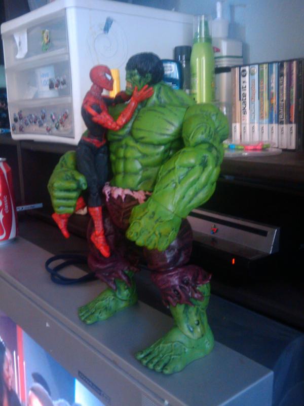 hulk and spiderman by davealv