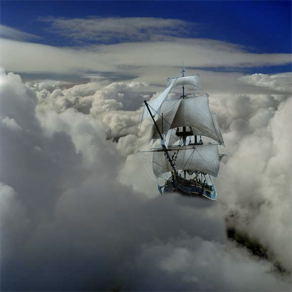 Ship on clouds by totialcott