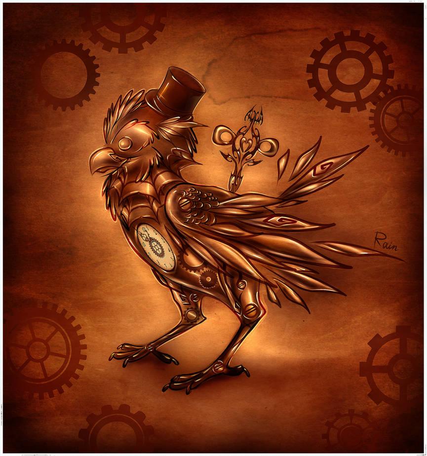 Clockwork bird by Static-ghost