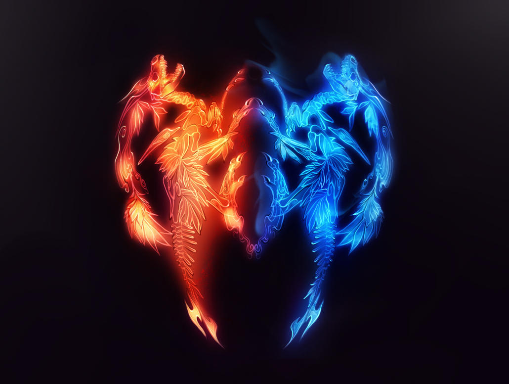 Ice And Fire By Static Ghost On Deviantart