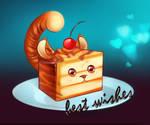 Orange chocolate tiger cake