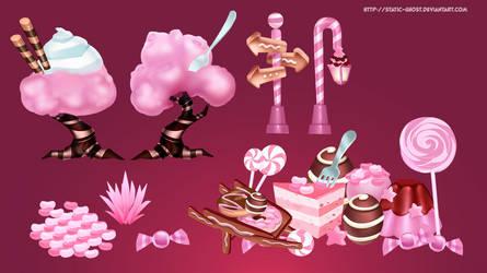 Candy world environment