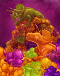 Gummy candy triceratops