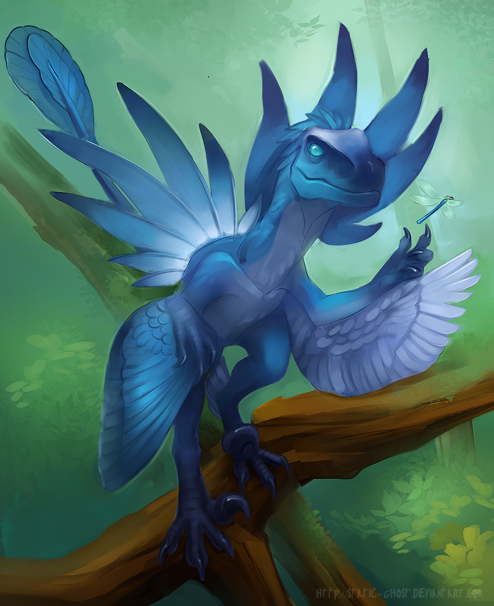 sapphire dragonfly by Static-ghost