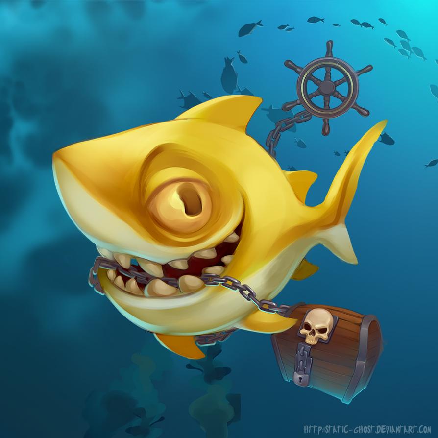 Lemon shark by Static-ghost