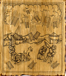 Thee Straynge Falle of Washboards,Antwerp 1436 by Caberwood