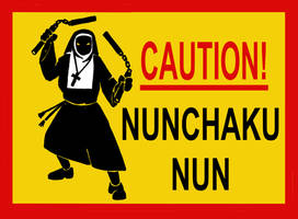 NUNCHAKU NUN by Caberwood