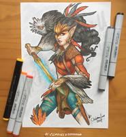 Secretary Warrior by Asenceana