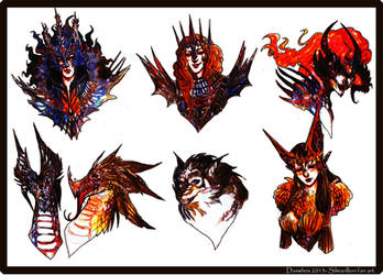 Silmarillion_ Melkor and his lieutenants by Daswhox