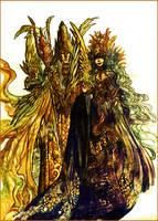 Silmarillion_Manwe and Varda by Daswhox