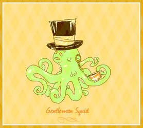 ..gentleman squid.. by tentaclees