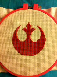 Cross Stitch Rebel Insignia by ZandyPop