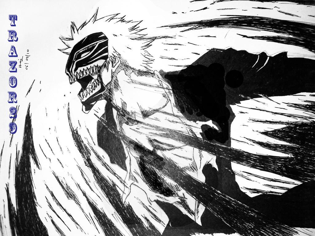 Bleach: Vizord Ichigo Lineart by trazor29