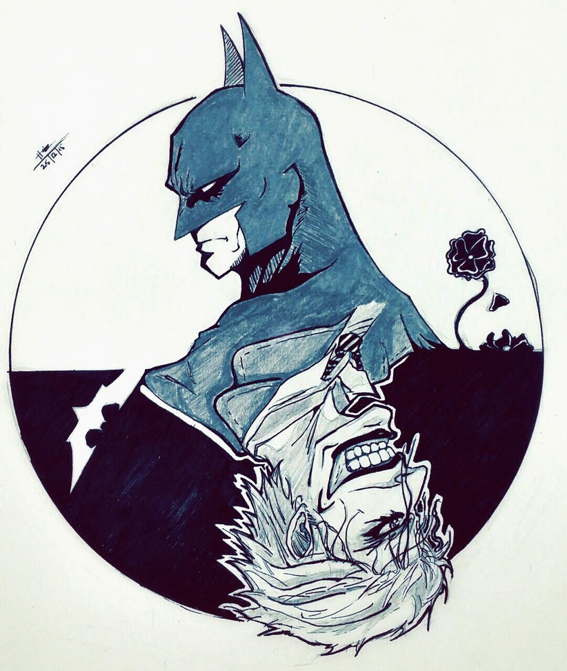 Batman and Joker by trazor29
