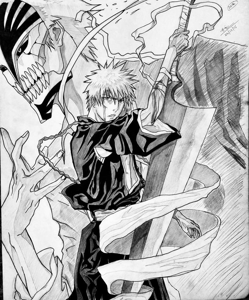 Ichigo and Hollow Ichigo by trazor29